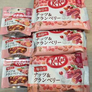 ネスレ(Nestle)のネスレキットカット  毎日のナッツ&クランベリー お買い得セット(菓子/デザート)