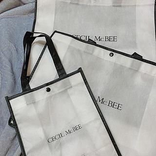 セシルマクビー(CECIL McBEE)のCECIL Mc BEE☆布製ショッパー3枚セット☆ロゴ☆(ショップ袋)