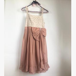 アクシーズファム(axes femme)のくすみピンク*ドレス(ミディアムドレス)