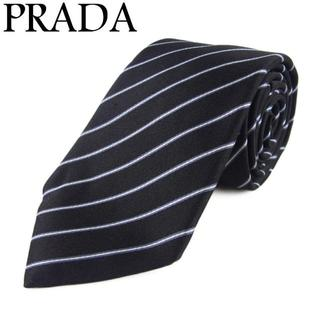 プラダ(PRADA)の正規品 プラダ メンズ レジメンタル ストライプ シルク 100% ネクタイ(ネクタイ)