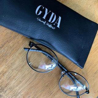 ジェイダ(GYDA)のGYDA ラウンドベーシックサングラス クリア(サングラス/メガネ)