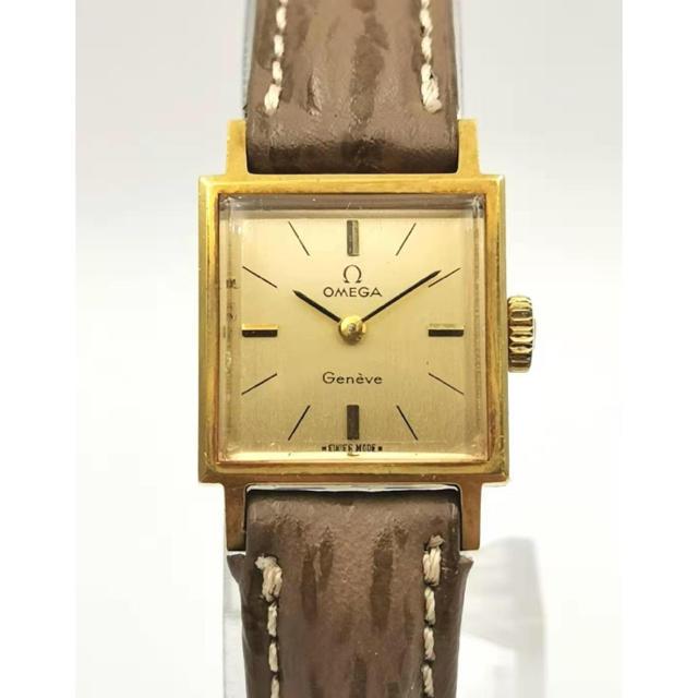 OMEGA - OMEGA  オメガ K18YG  GENEVE  スクエア 時計の通販 by MAU