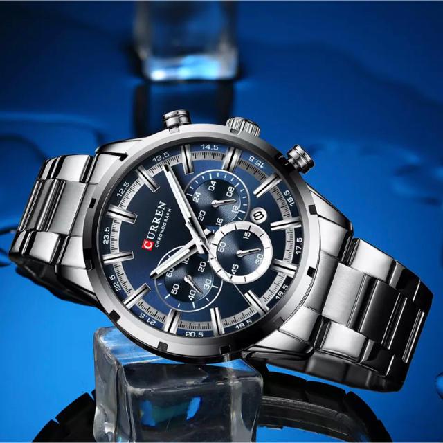 スーパーコピー 時計 ガガ 00 / 【新品】メンズ 高級腕時計 シルバー クロノグラフ スチールバンドの通販 by ケベク's shop