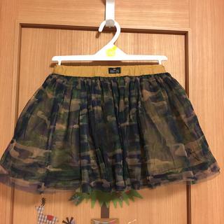 ブリーズ(BREEZE)のBREEZE迷彩柄チュールスカート90cm(スカート)