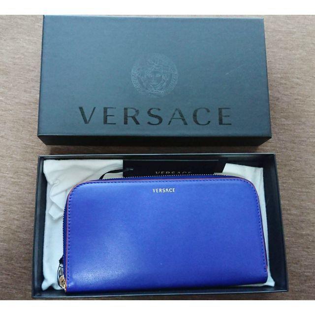 カルチェの指輪 | VERSACE - 新品 VERSACE 長財布 青 ラウンドジップ 正規品 ヴェルサーチェ レザーの通販 by oioioooi's shop