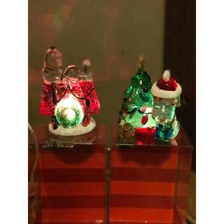 スヌーピー(SNOOPY)の新品●スヌーピーガラスLEDライト 二個セットで USA購入(その他)