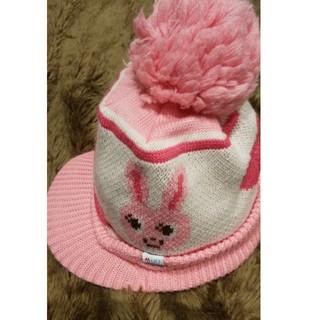 ミキハウス(mikihouse)の美品 ミキハウス M 帽子 ニット帽(帽子)