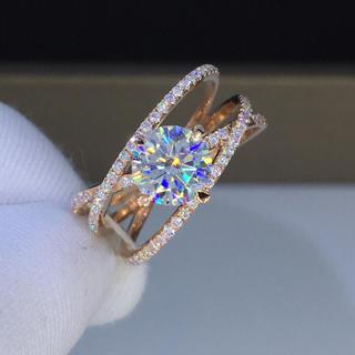 【1カラット】輝くモアサナイト ダイヤモンド リング(リング(指輪))