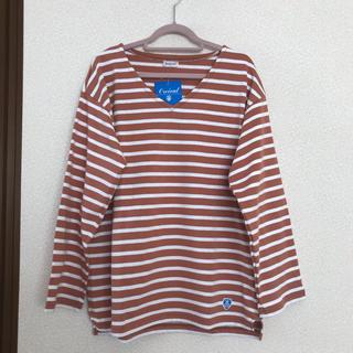 オーシバル(ORCIVAL)のオーシバル Vネック ボーダー バスクシャツ 0(Tシャツ(長袖/七分))