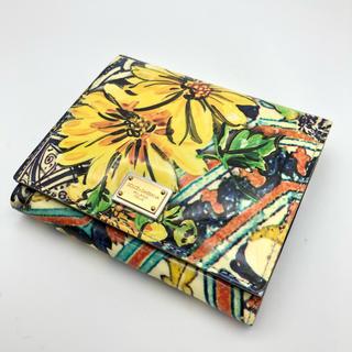 ディーアンドジー(D&G)のD&G ドルガバ 花柄 折りたたみ財布 正規品(折り財布)