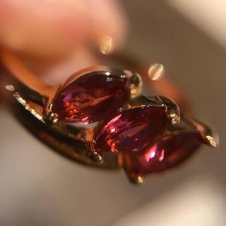 ファッションリング ルビー ピンクトルマリン風 16号(リング(指輪))