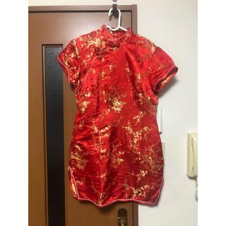 ボディライン(BODYLINE)のBODY LINE ミニチャイナドレス 赤(衣装)