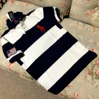 ラルフローレン(Ralph Lauren)の新品☆ラルフローレン 半袖ポロシャツ ボーダー US S(Tシャツ/カットソー(半袖/袖なし))