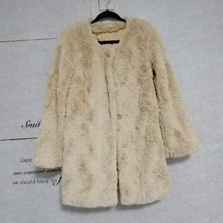 リュクスローズ(Luxe Rose)のLuxeRose ファーコート ノーカラーコート(毛皮/ファーコート)