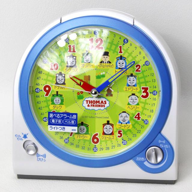 SEIKO(セイコー)のセイコー SEIKO 目覚まし時計 置き時計 CQ157W きかんしゃトーマス インテリア/住まい/日用品のインテリア小物(置時計)の商品写真