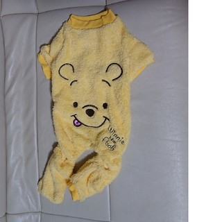 クマノプーサン(くまのプーさん)の犬服 プーさんモコモコロンパース 5号(犬)