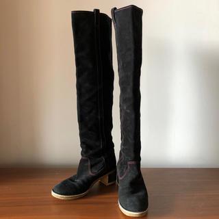 シャネル(CHANEL)のシャネル ニーハイロングブーツ 24cm(ブーツ)