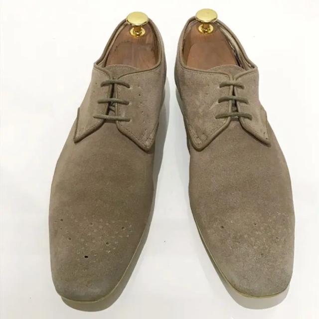【Clarks】約25.5cm ビジネスシューズ 革靴 スエード メンズ
