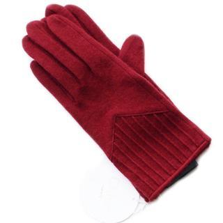 クロエ(Chloe)の新品 ストライプ レッド カシミヤ混 クロエ GANTS 手袋(手袋)