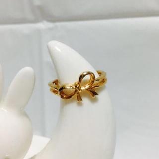 ゴールドリボン/ピンキーリング・ファランジリング(リング(指輪))