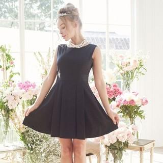 メゾンドフルール(Maison de FLEUR)の新品 メゾンドフルール バックリボンプリーツドレス ワンピース(ひざ丈ワンピース)