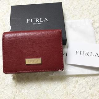 フルラ(Furla)の【新品】フルラ CLASSIC S TRIFOLD レザー 三つ折り財布 レッド(財布)