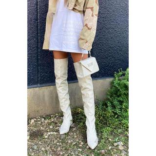 イエローブーツ(Yellow boots)のyello shoes HAKU FLAT LONG 定価以下(ブーツ)