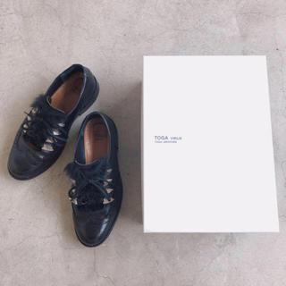 トーガ(TOGA)のTOGA VIRILIS ファーレザーシューズ サイズ41(26.5〜27.0)(ブーツ)