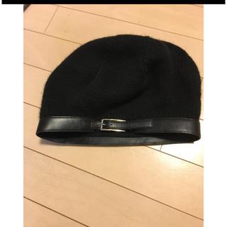 ドゥロワー(Drawer)のカシミヤベレー帽(ハンチング/ベレー帽)
