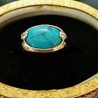 ◆18◆天然石風なブルーカラーリング(リング(指輪))