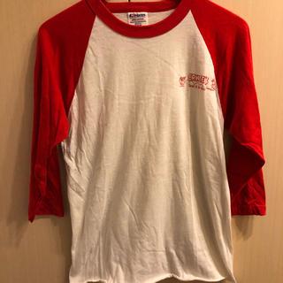 ヘインズ(Hanes)のベースボールTシャツ Mサイズ Hanes 7部丈(Tシャツ/カットソー(七分/長袖))