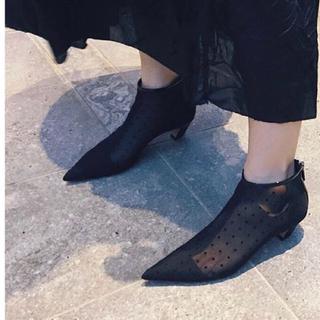 クリスチャンディオール(Christian Dior)のDior ドット シースルー ショートブーツ 22cm 34.5(ブーツ)