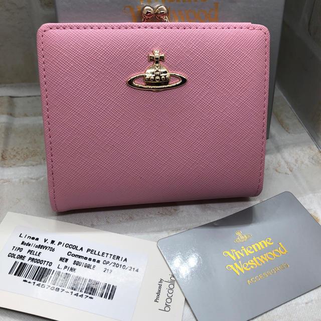 Vivienne Westwood - ヴィヴィアンウエストウッド 二つ折り 財布 ライトピンク  新品未使用の通販 by ぷーちゃん's shop