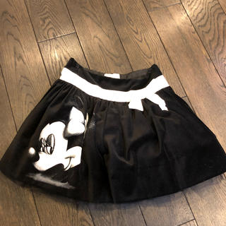 MONNALISA - モナリザ ミニパニエスエード スカート116
