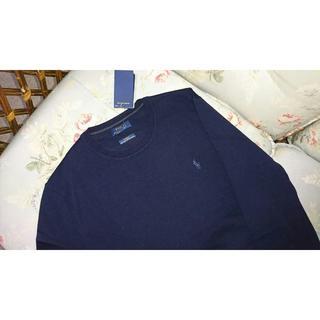 ラルフローレン(Ralph Lauren)の新品☆ラルフローレン クルーネックセーター  紺 US M(ニット/セーター)