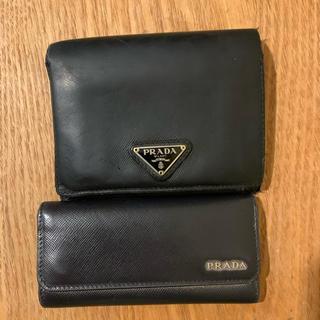 プラダ(PRADA)のPRADA キーケース 財布 正規品 メンズ サフィアーノ セット 限定 (折り財布)