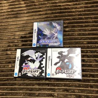 ニンテンドー3DS(ニンテンドー3DS)のポケモンゲーム ダイヤモンド ブラック ホワイト(家庭用ゲームソフト)