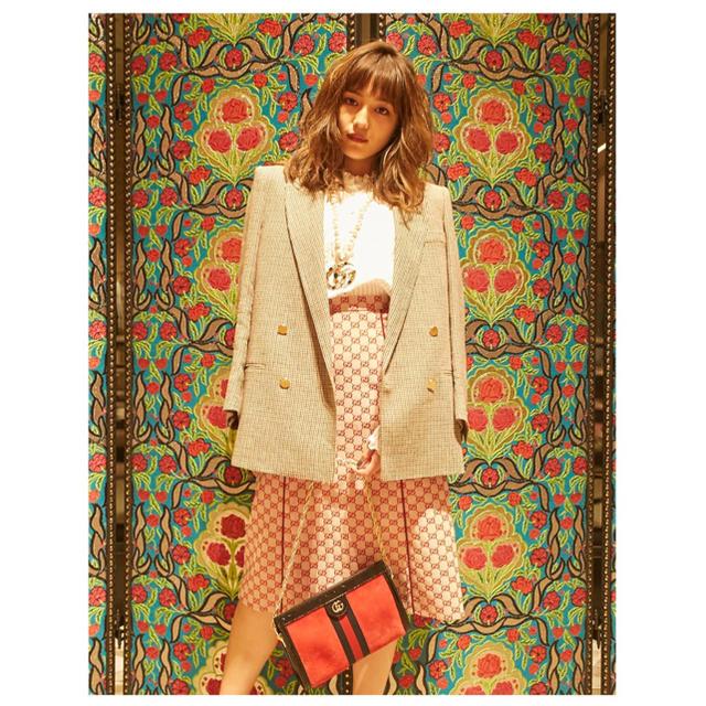 Gucci - 2019  GUCCI グッチ スカート GGキャンバス レザー 茶の通販 by ◆次回発送1月5日◆