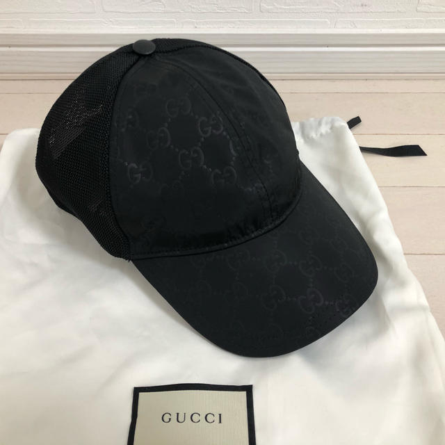 Gucci - 【新品未使用】M58 グッチ ロゴ キャップ モノグラムの通販 by K's shop