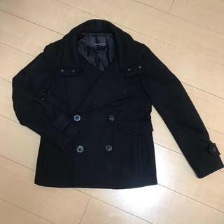 カスタムカルチャー(CUSTOM CULTURE)の《美品》CUSTOM CULTURE Pコート ブラック(ピーコート)