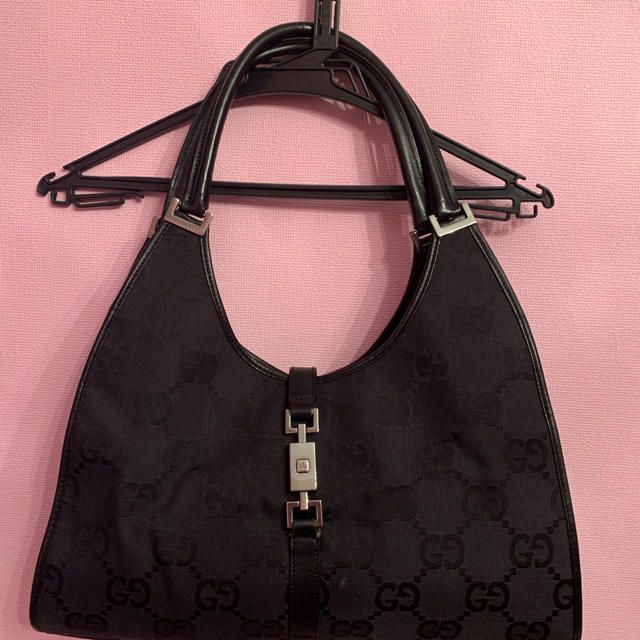 Gucci - GUCCI ショルダーバッグ キャンバス 黒GG柄の通販 by aya_natto's shop