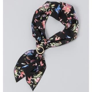 ジーナシス(JEANASIS)のJEANASIS ブラック リングツキスカーフ 新品未使用品(バンダナ/スカーフ)