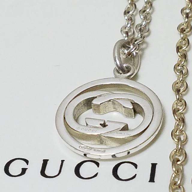 Gucci - [正規品] GUCCI インターロッキング ネックレス シルバー 鏡面研磨済の通販 by みけねこ's shop