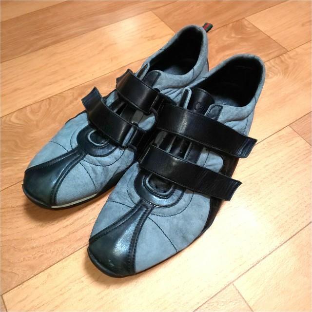 Gucci - GUCCI グッチ スエード レザーシューズ メンズ 25.5cm ブラック 靴の通販 by カピパラ's shop