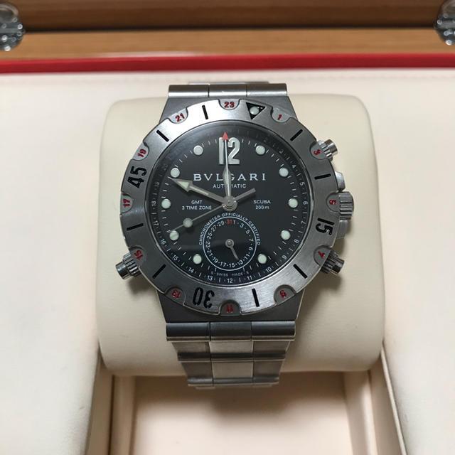 クロエ 時計 通贩 、 BVLGARI - ブルガリ ディアゴノ スクーバ GMT SD38S GMT保証書·箱 の通販 by Brandboy's shop