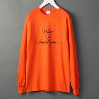ビューティアンドユースユナイテッドアローズ(BEAUTY&YOUTH UNITED ARROWS)の【新品未使用】ROKU 6 オレンジ ロゴロンTシャツ ロク (Tシャツ(長袖/七分))