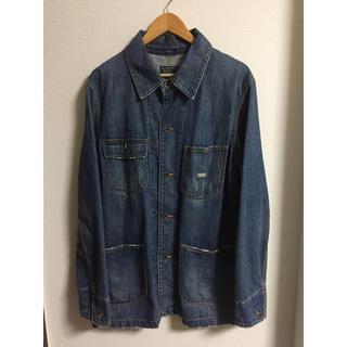 ポロラルフローレン(POLO RALPH LAUREN)のvintage denim semi long jacket Japanmade(Gジャン/デニムジャケット)