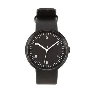 ムジルシリョウヒン(MUJI (無印良品))の無印良品 腕時計・wall clock 黒革(腕時計(アナログ))