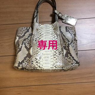 ギンザカネマツ(GINZA Kanematsu)の銀座かねまつ パイソンレザーバッグ(ハンドバッグ)