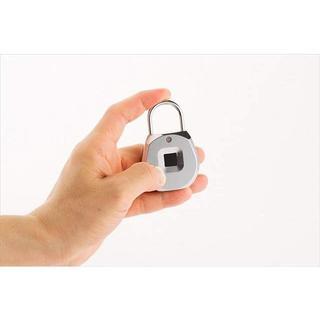 指紋認証 南京錠 指紋ロック タッチロック 指紋20個登録可 盗難防止(旅行用品)